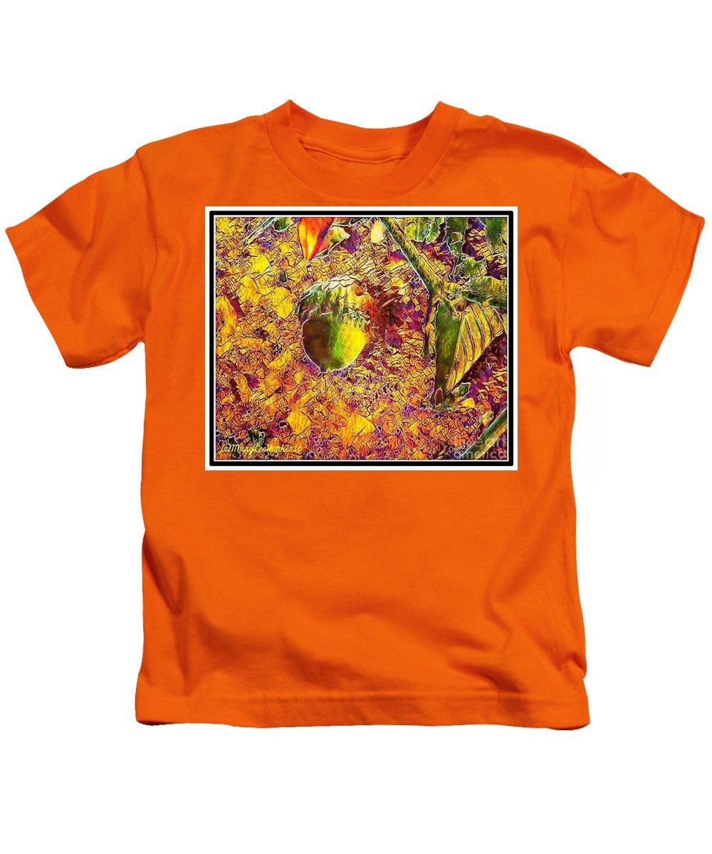 Digital Art Kids T-Shirt featuring the digital art Little Acorn by MaryLee Parker
