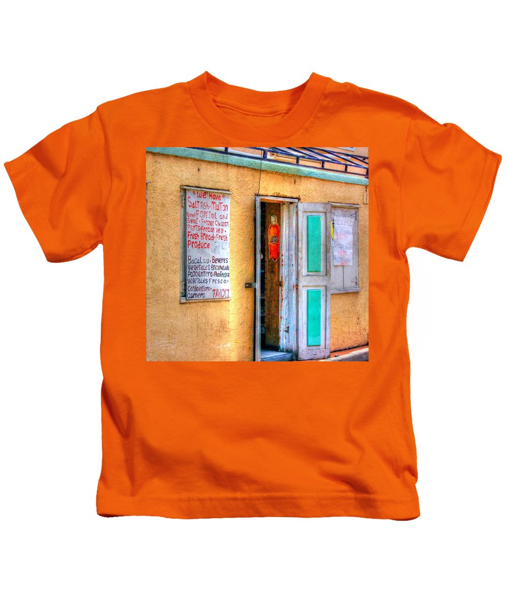 Store Kids T-Shirt featuring the photograph Local Store by Debbi Granruth