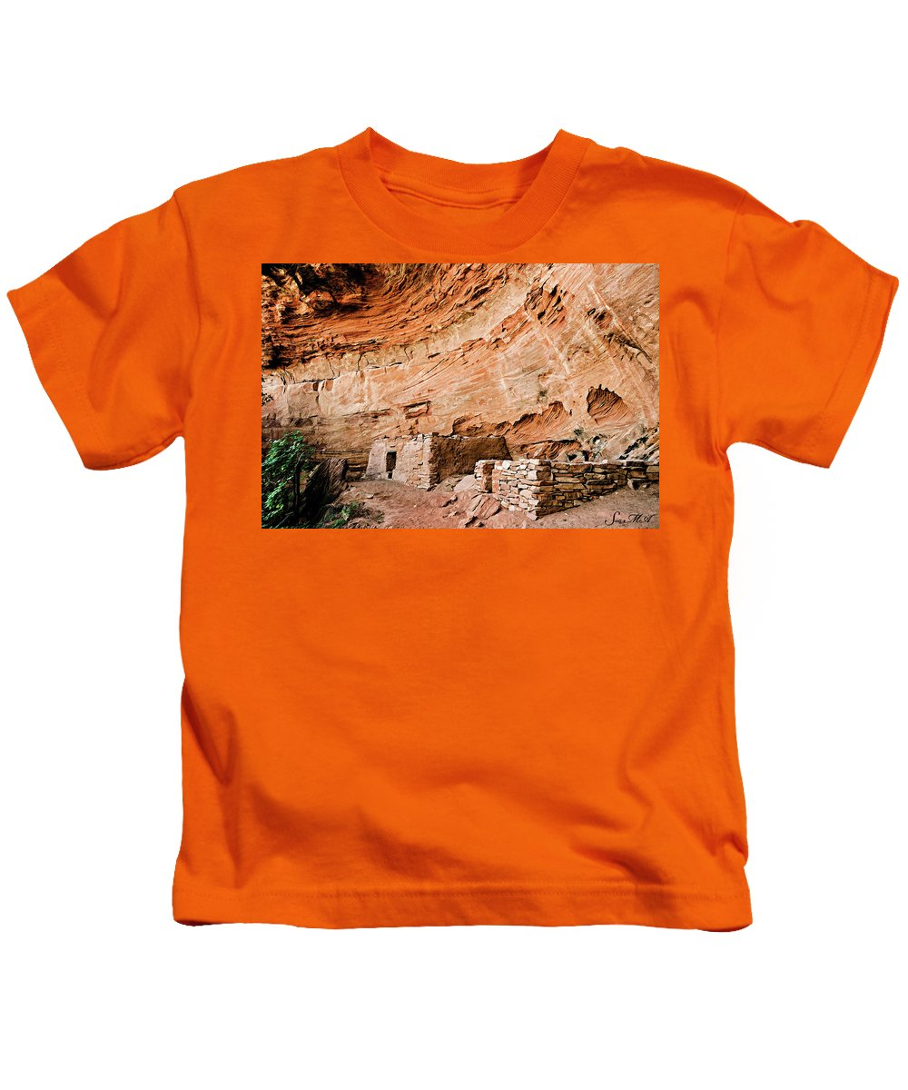 Long Canyon Kids T-Shirt featuring the photograph Long Canyon 05-219 by Scott McAllister