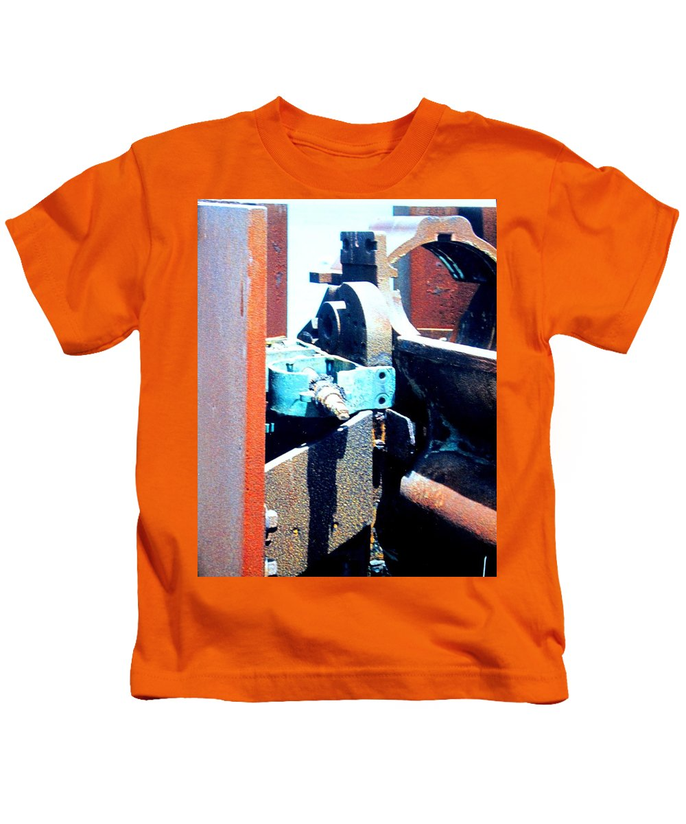 Rust Kids T-Shirt featuring the photograph Machinery by Ian MacDonald
