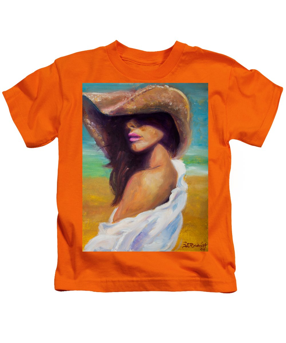 Girl Kids T-Shirt featuring the painting Made In The Shade by Jason Reinhardt