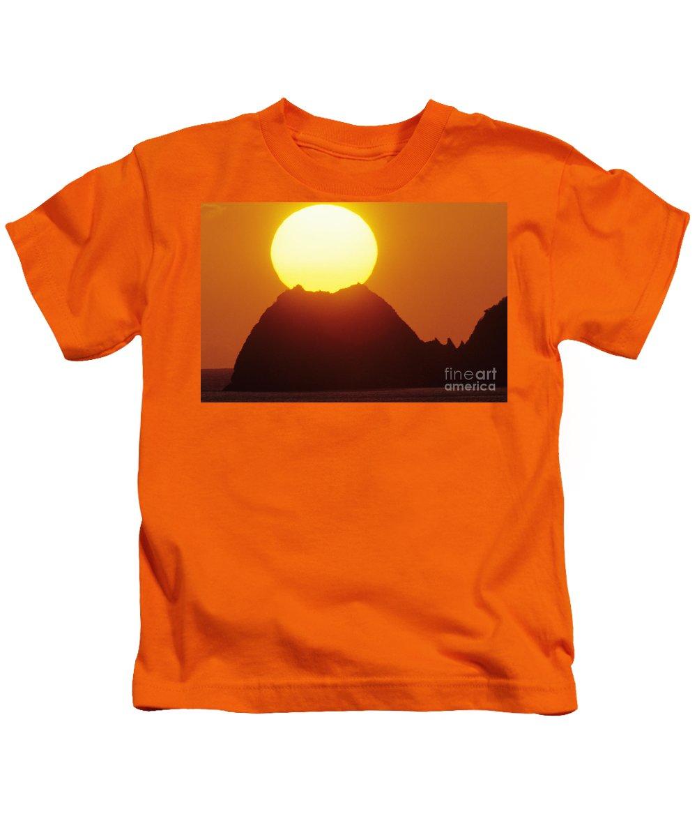 Beautiful Kids T-Shirt featuring the photograph Manzanillo Sunset by Larry Dale Gordon - Printscapes