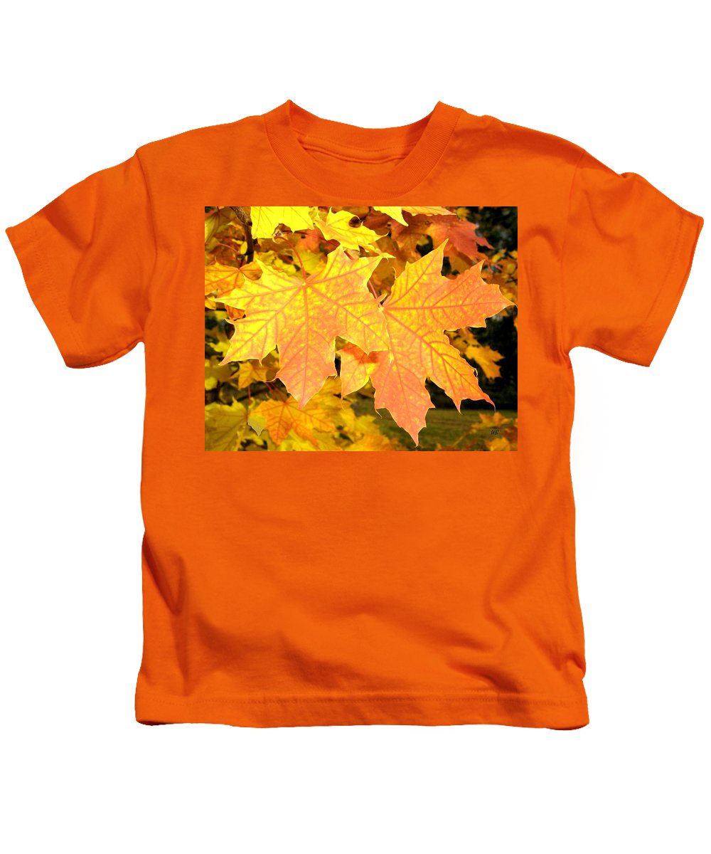 Autumn Kids T-Shirt featuring the photograph Maple Mania 2 by Will Borden