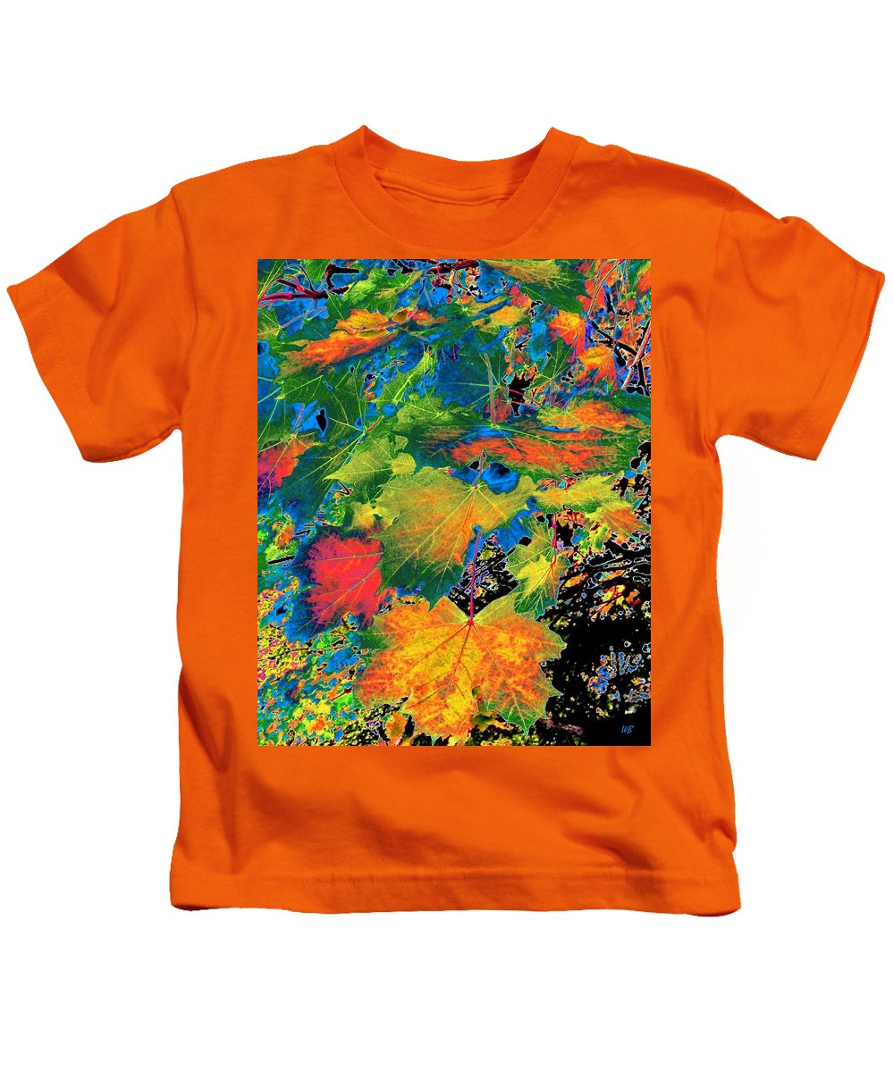 Photo Design Kids T-Shirt featuring the digital art Maple Mania 3 by Will Borden