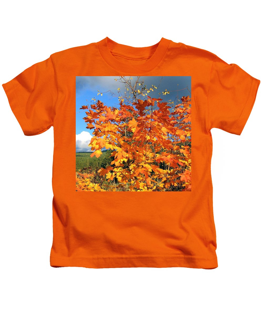 Autumn Kids T-Shirt featuring the photograph Maple Mania 8 by Will Borden