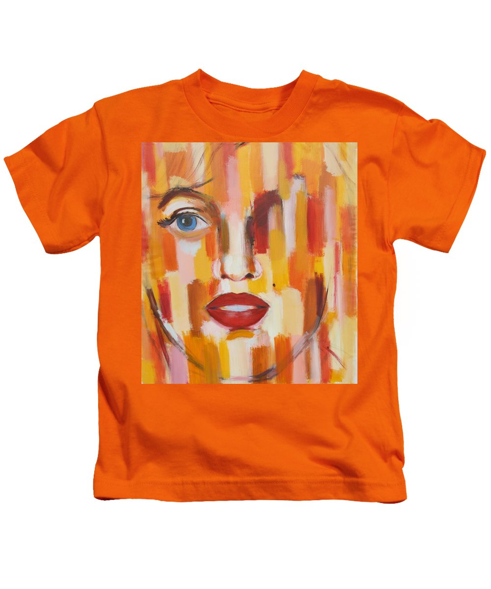 Contemporary Kids T-Shirt featuring the painting Marilyn Monroe by Habib Ayat