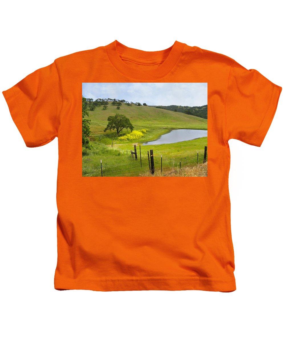 Landscape Kids T-Shirt featuring the photograph Marsh Creek Road by Karen W Meyer