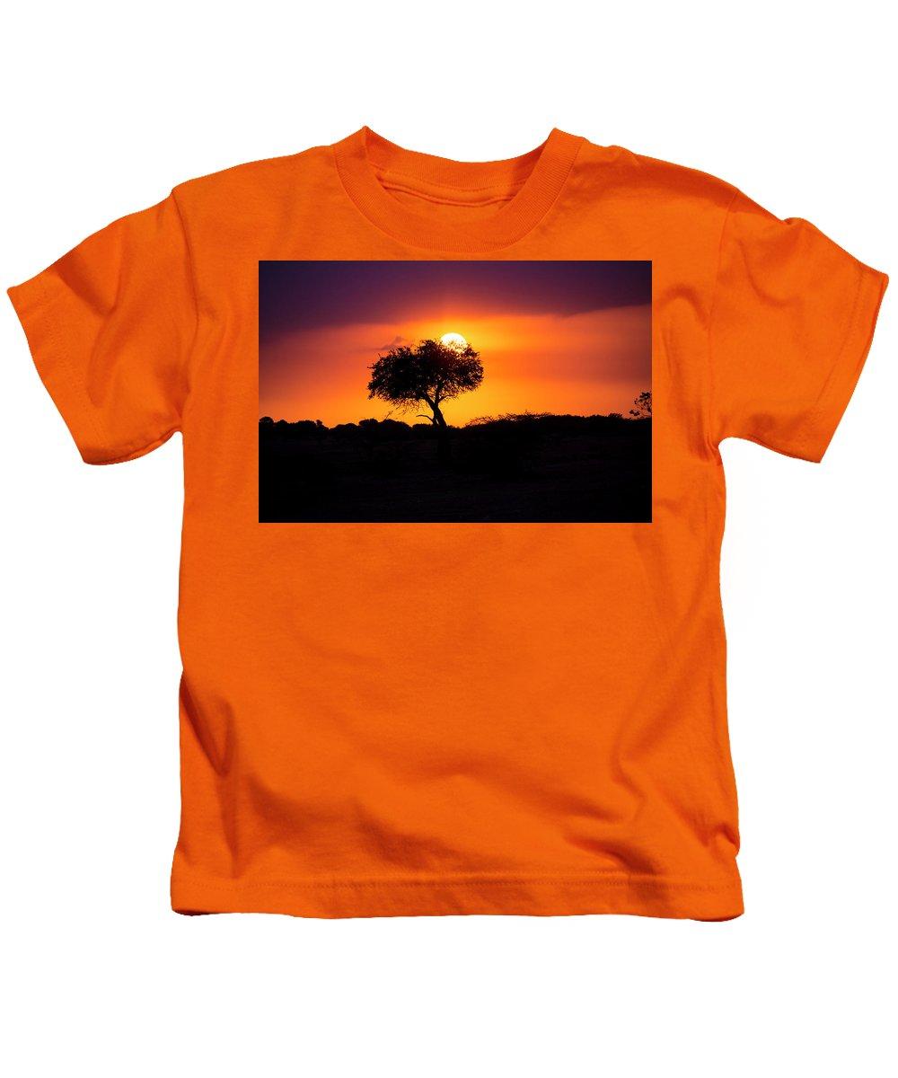 Africa Kids T-Shirt featuring the photograph Masai Mara Sunrise by David Morefield