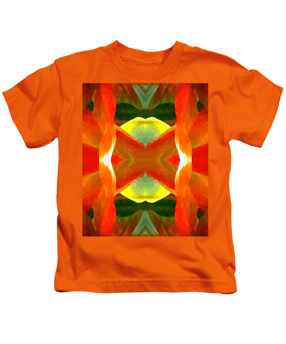 Abstract Kids T-Shirt featuring the painting Meditation by Amy Vangsgard