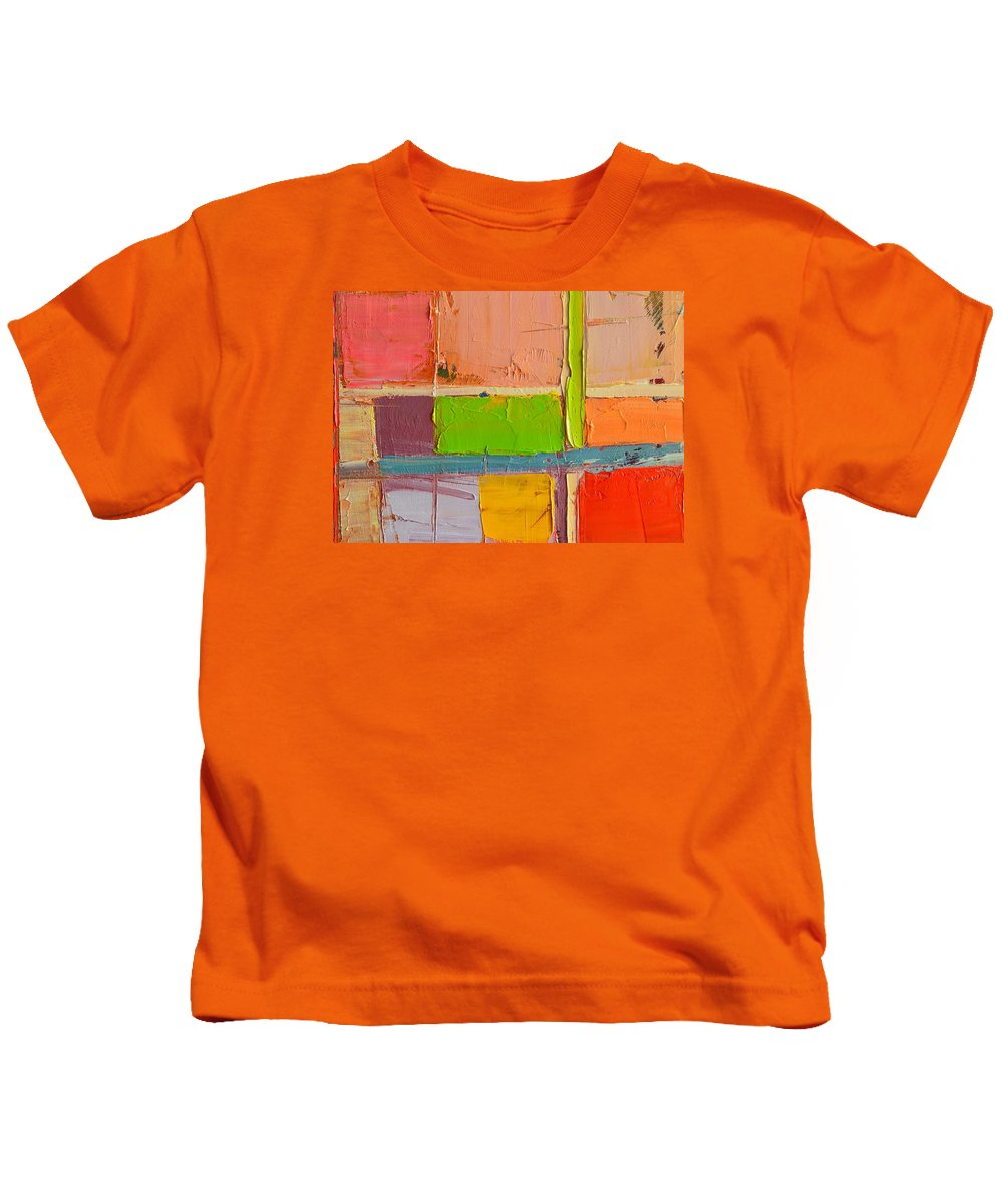 Abstract Kids T-Shirt featuring the painting Messages 2 by Ana Maria Edulescu