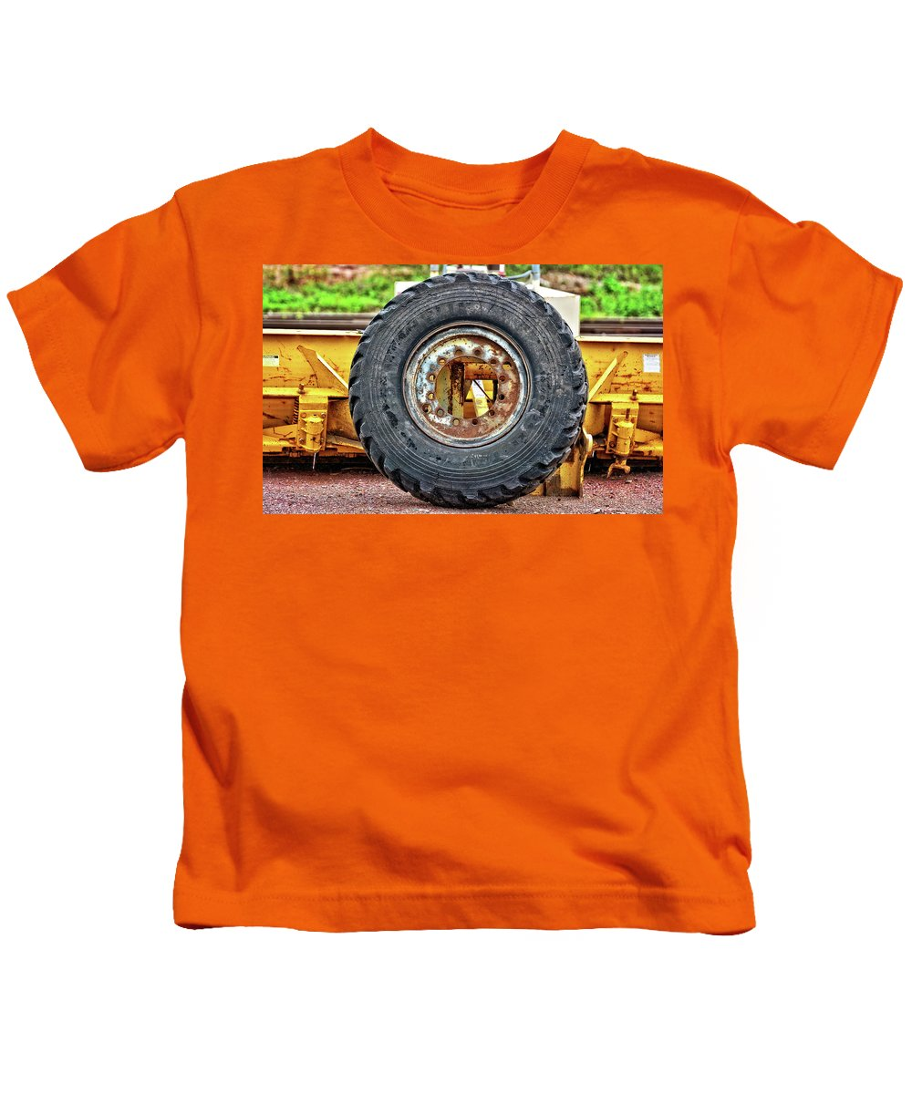 Tire Kids T-Shirt featuring the photograph Michelin Weathered And Worn by M Dale