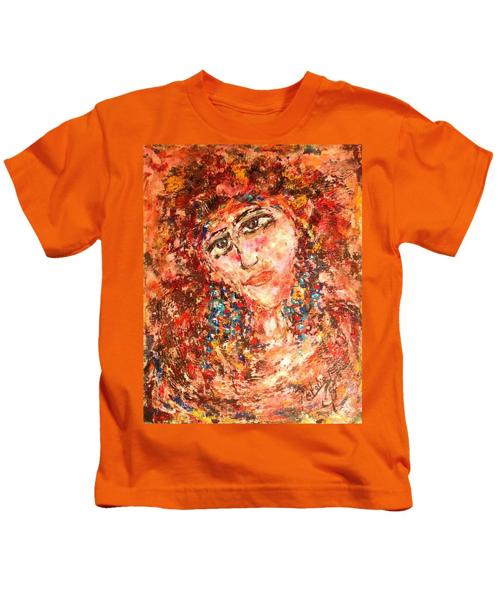 Sadness Kids T-Shirt featuring the painting Missing You by Natalie Holland