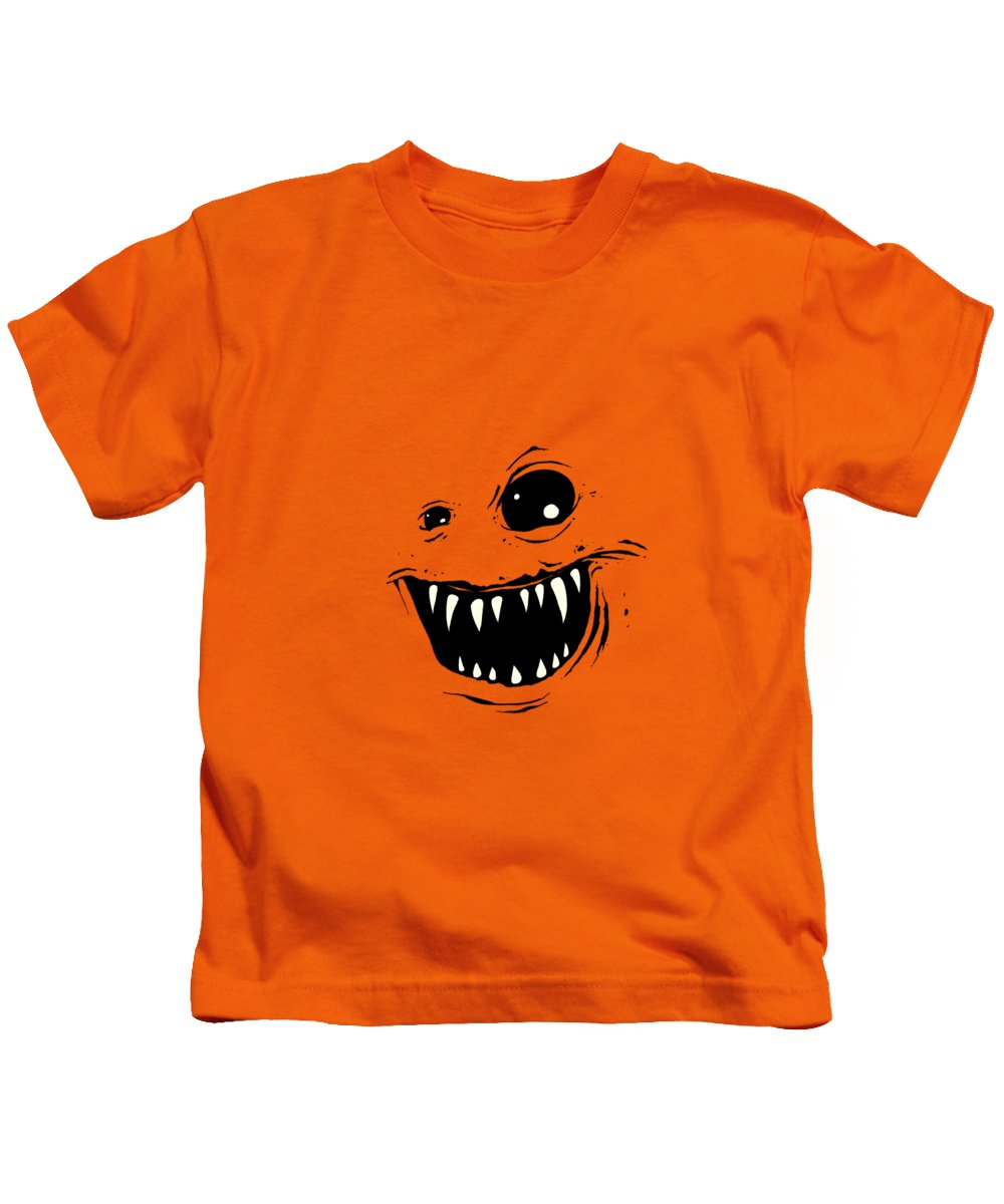 Face Kids T-Shirt featuring the drawing Monty by Nicholas Ely