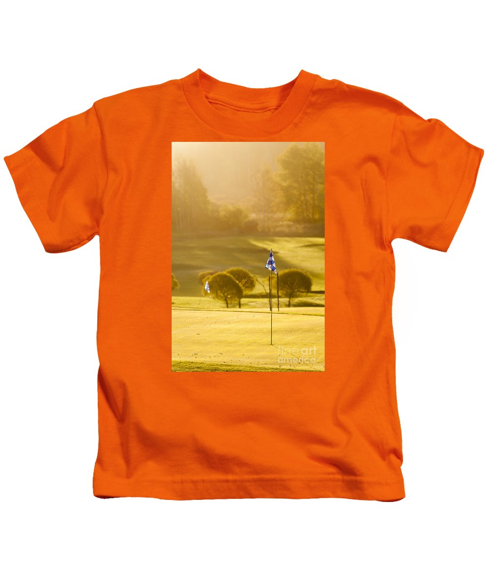 Espoo Kids T-Shirt featuring the photograph Morning At Golf Course by Lasse Ansaharju