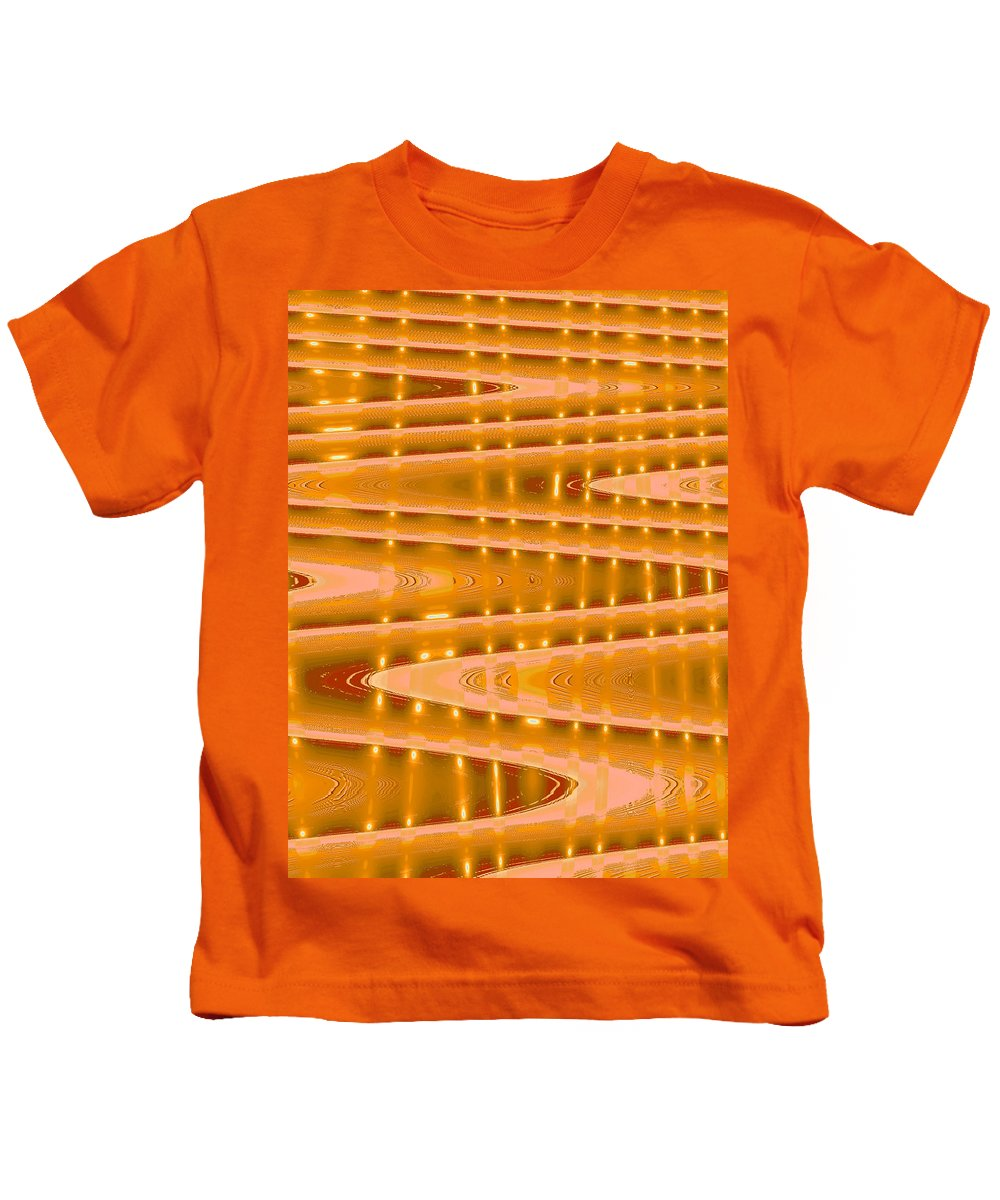Moveonart! Digital Gallery Kids T-Shirt featuring the digital art Moveonart Abstract Waves And Light Three by Jacob Kanduch