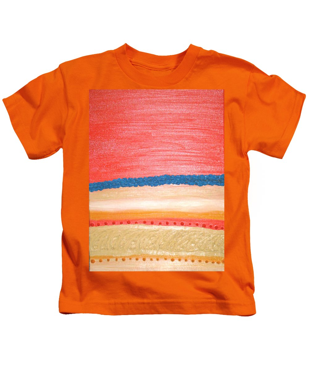 Moveonart! Digital Gallery Kids T-Shirt featuring the painting Moveonart California Sunset by Jacob Kanduch