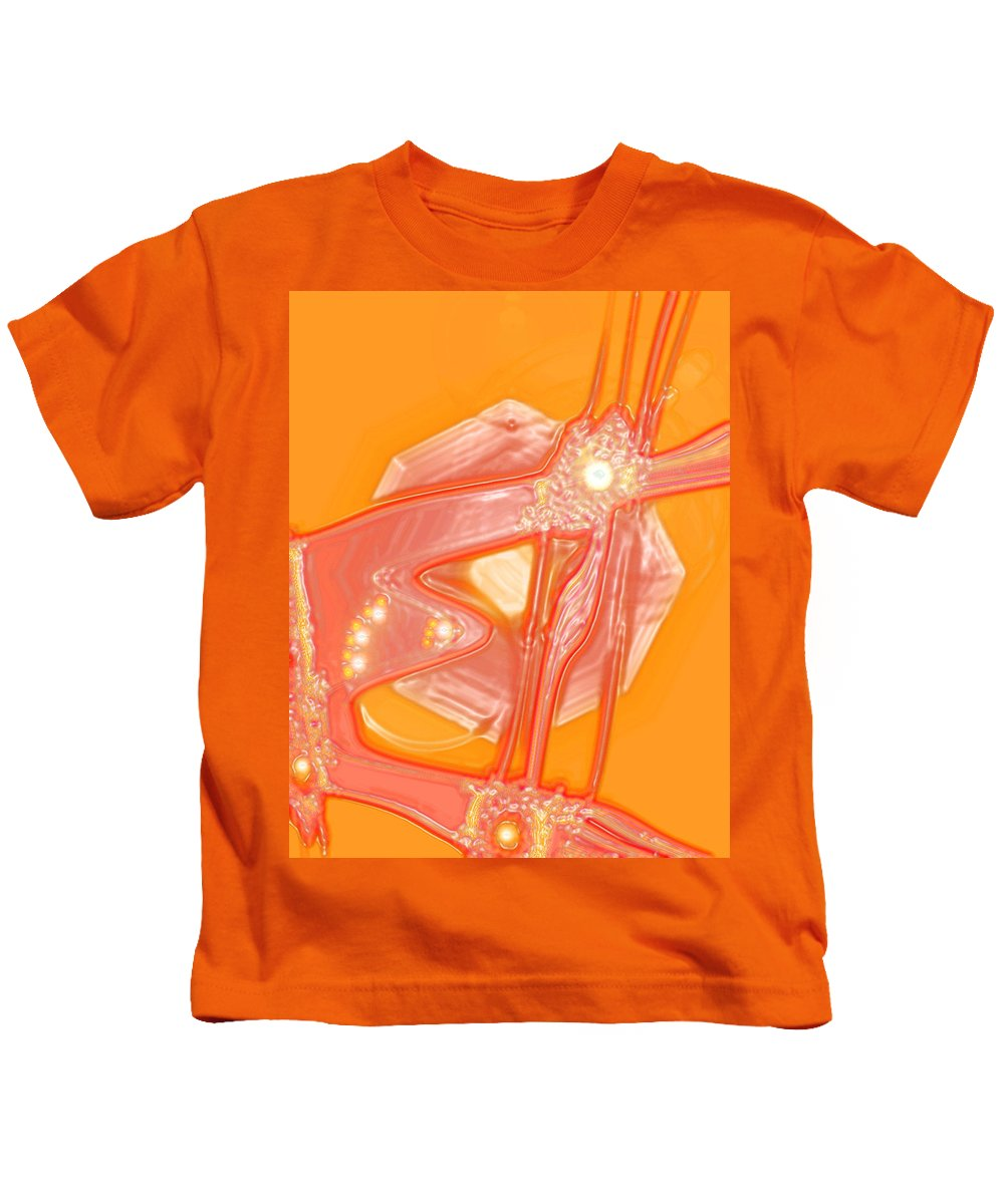 Moveonart! Digital Gallery Kids T-Shirt featuring the digital art Moveonart Creative Peaceful Creature by Jacob Kanduch