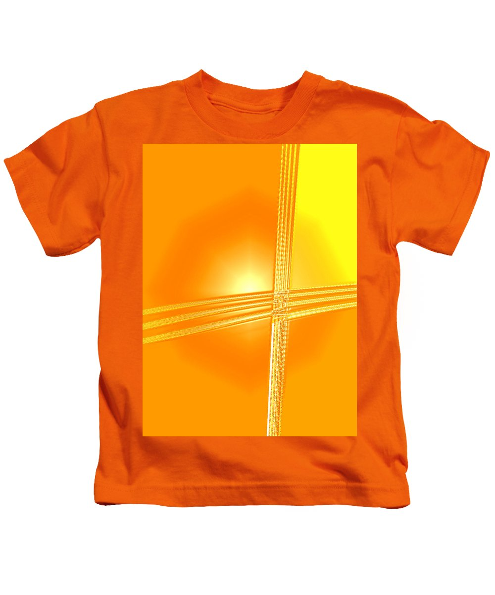 Moveonart! Digital Gallery Kids T-Shirt featuring the digital art Moveonart Shift In Time One by Jacob Kanduch