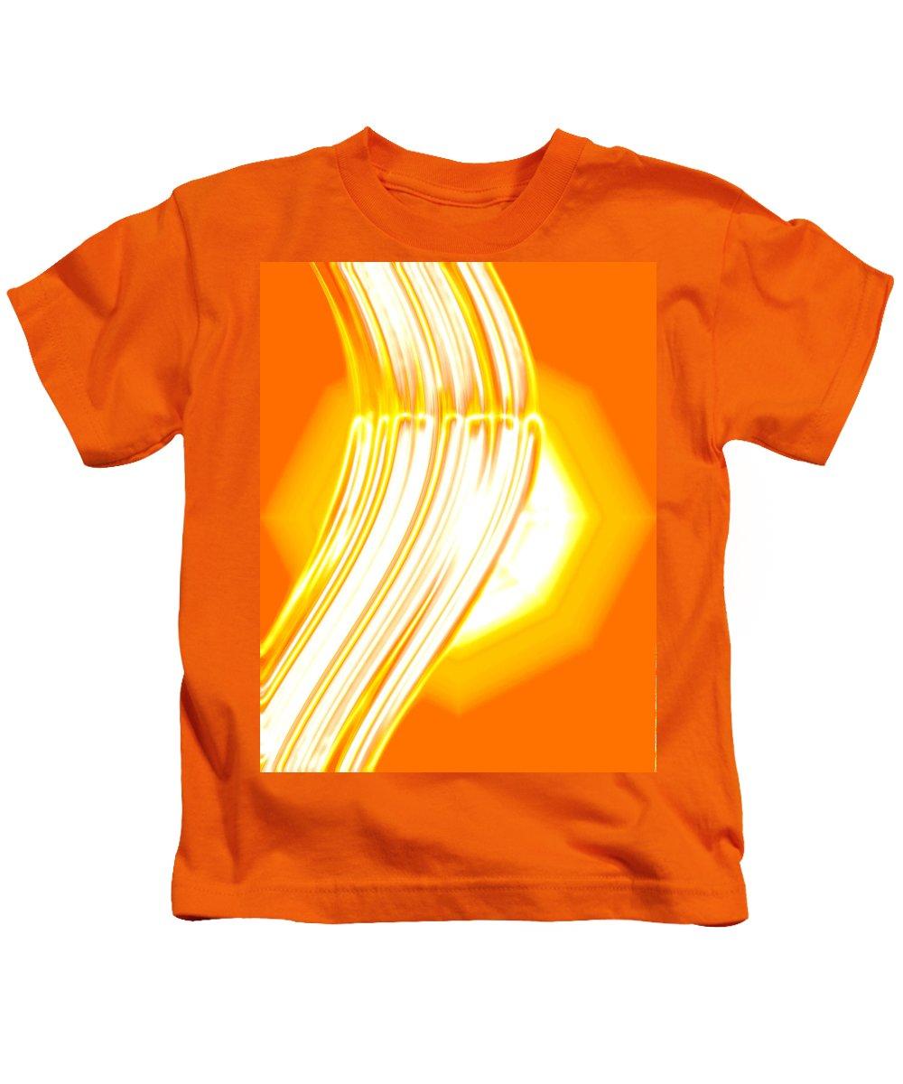 Moveonart! Digital Gallery Kids T-Shirt featuring the digital art Moveonart Time For Transformation by Jacob Kanduch