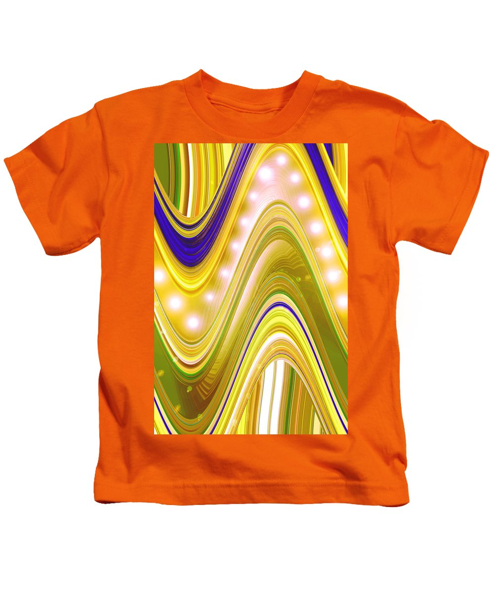 Moveonart! Digital Gallery Kids T-Shirt featuring the digital art Moveonart Wave Of Enlightenment Four by Jacob Kanduch