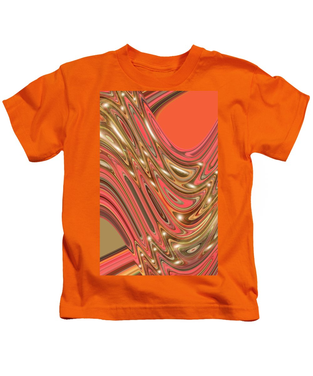 Moveonart! Digital Gallery Kids T-Shirt featuring the digital art Moveonart Waves Of Interpretation by Jacob Kanduch