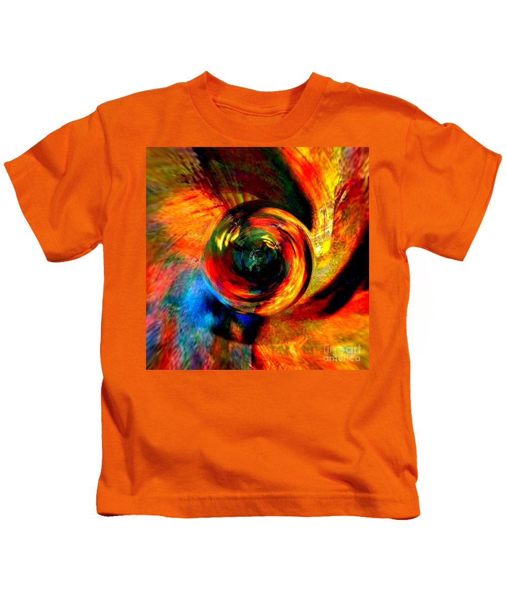 Fania Simon Kids T-Shirt featuring the mixed media Moving Mediums by Fania Simon