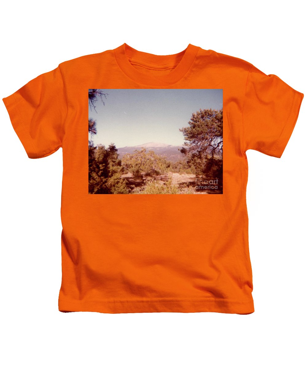 Mt Taylor Prints Kids T-Shirt featuring the photograph Mt Taylor by Ruth Housley