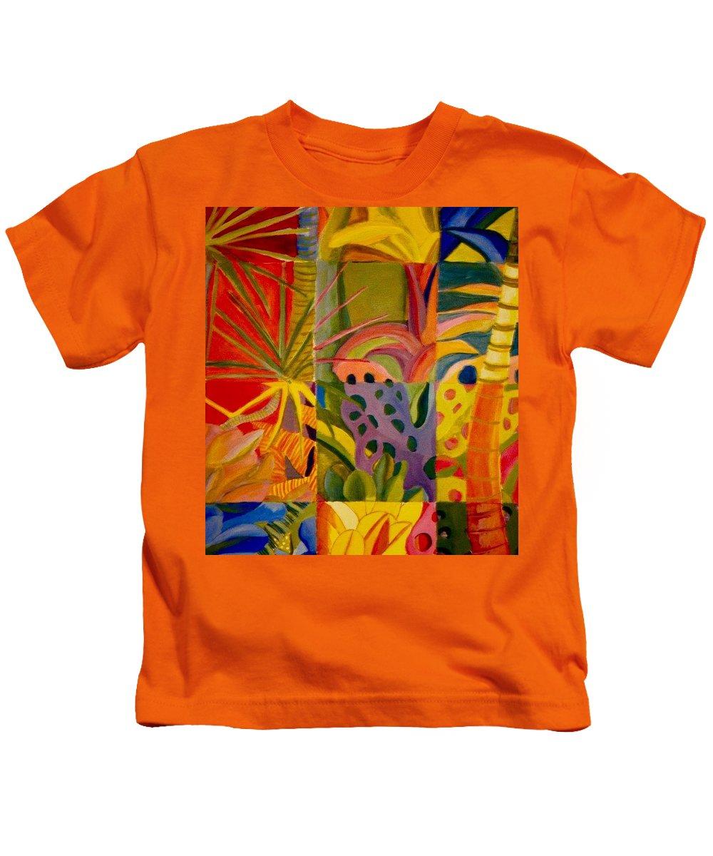 Beach Kids T-Shirt featuring the painting My Back Yard by Jamie Laniakea Clark