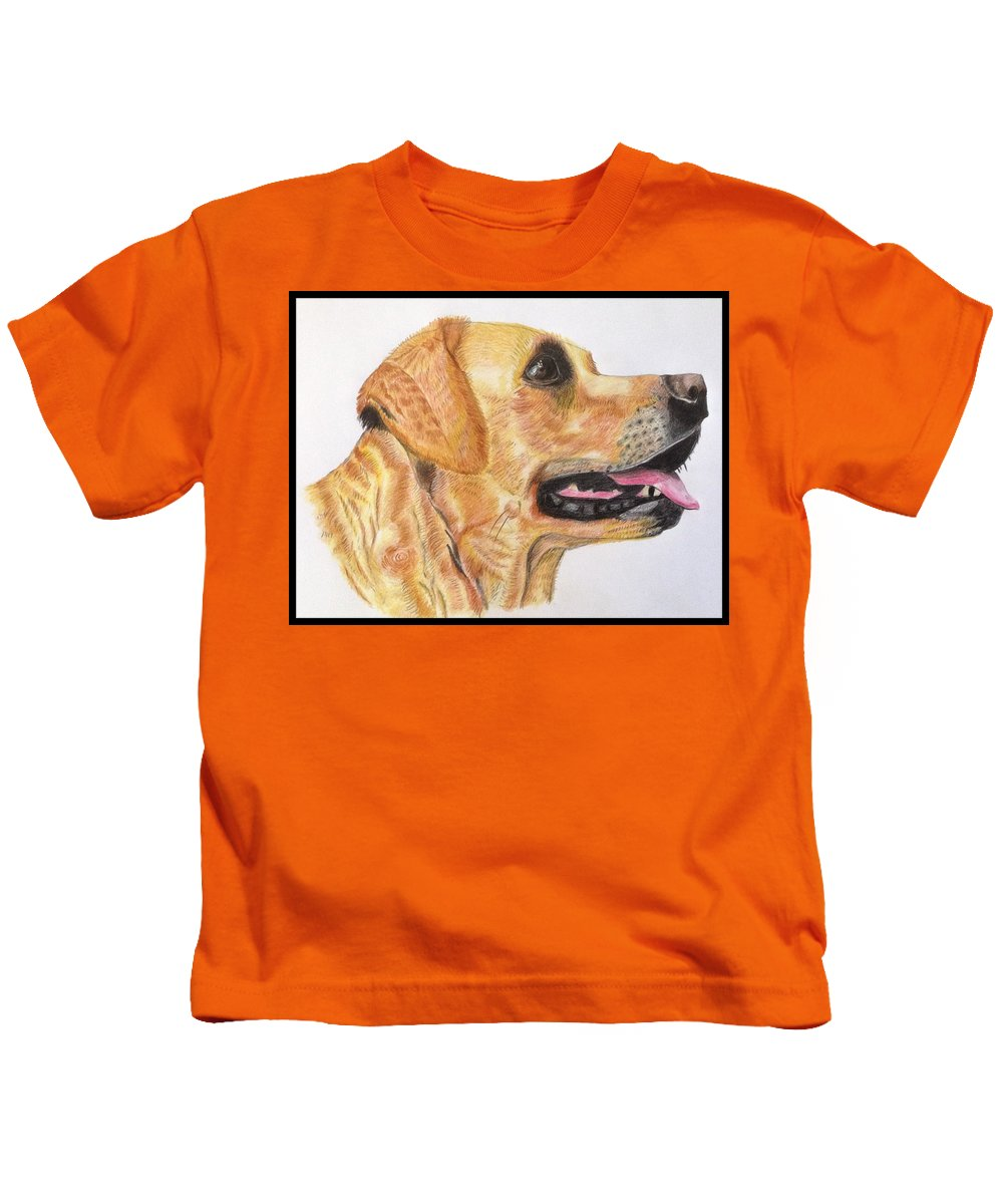 Labrador Kids T-Shirt featuring the painting My Dog by Susan Fuss