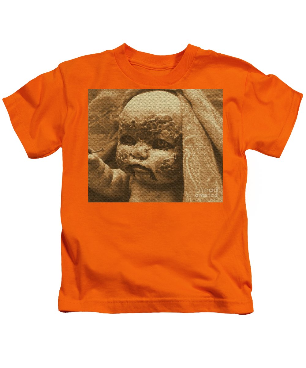 Zombies Kids T-Shirt featuring the photograph Nailbiter The Second by Beverly Shelby