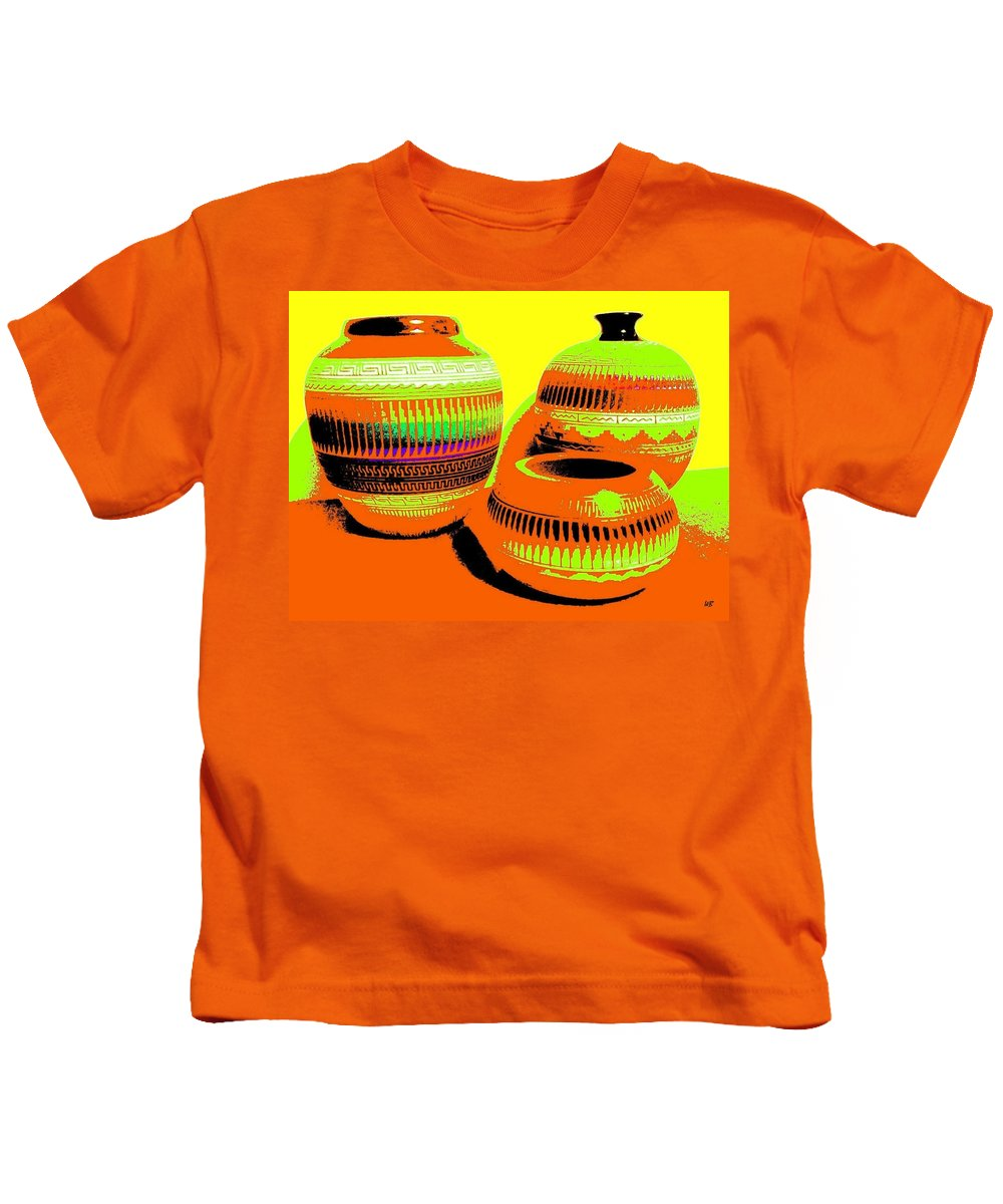 Abstract Kids T-Shirt featuring the digital art Navajo Pots by Will Borden