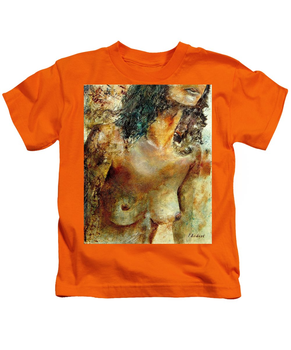 Girl Nude Kids T-Shirt featuring the painting Nude 34 by Pol Ledent