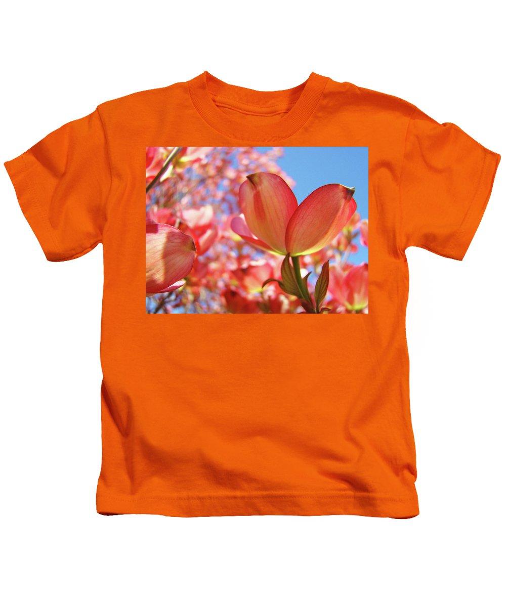 Dogwood Kids T-Shirt featuring the photograph Office Art Prints Pink Dogwood Tree Flowers 4 Giclee Prints Baslee Troutman by Baslee Troutman