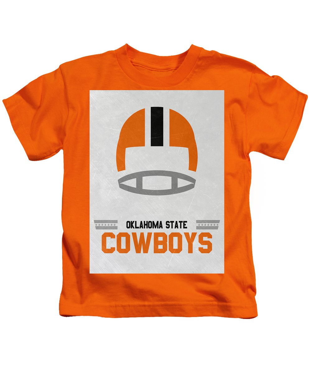 f84bb0380ad Cowboys Kids T-Shirt featuring the mixed media Oklahoma State Cowboys  Vintage Football Art by