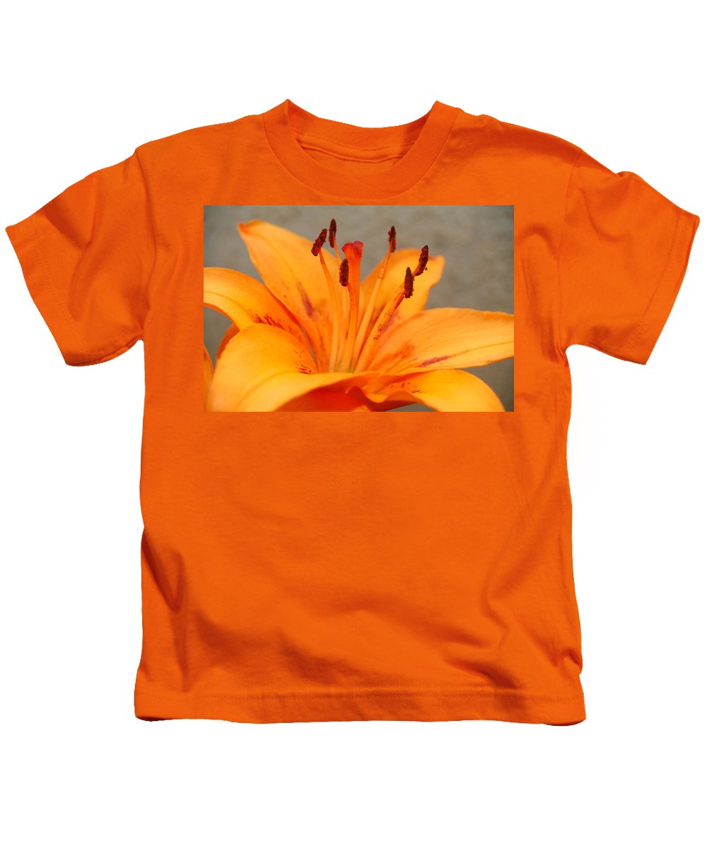 Floral Kids T-Shirt featuring the photograph Orange Lily 1 by Amy Fose