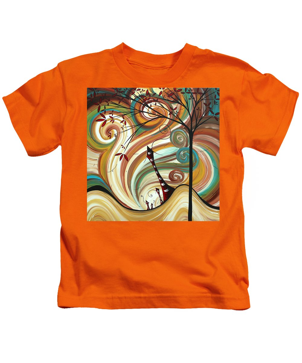 Wall Kids T-Shirt featuring the painting Out West II By Madart by Megan Duncanson