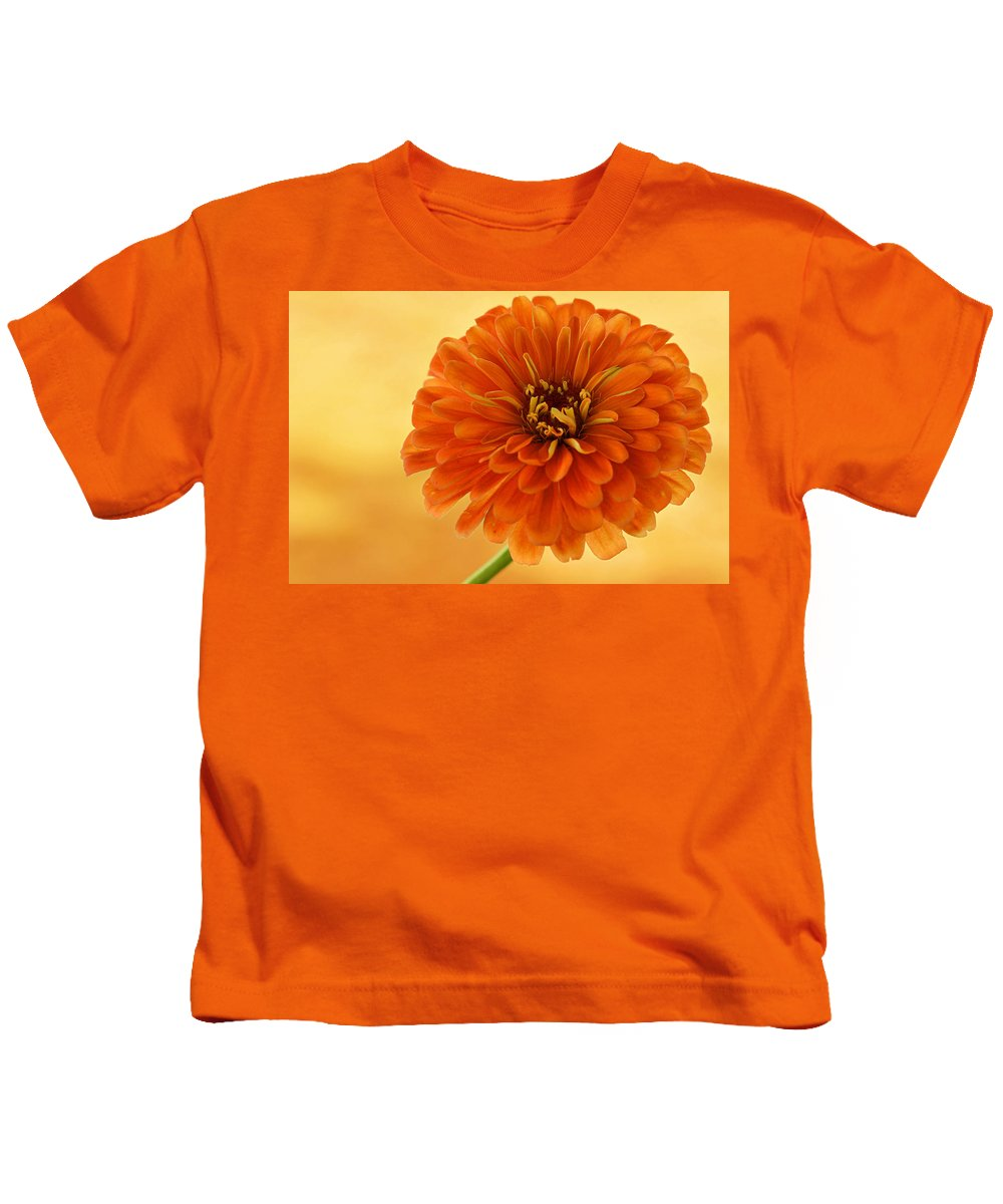 Flower Kids T-Shirt featuring the photograph Outrageous Orange by Sandy Keeton
