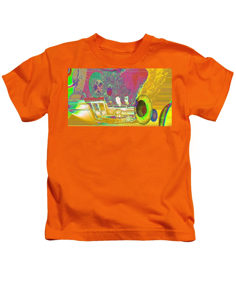 Abstract Kids T-Shirt featuring the photograph Ozzy's Crazy Train  by Jeff Swan