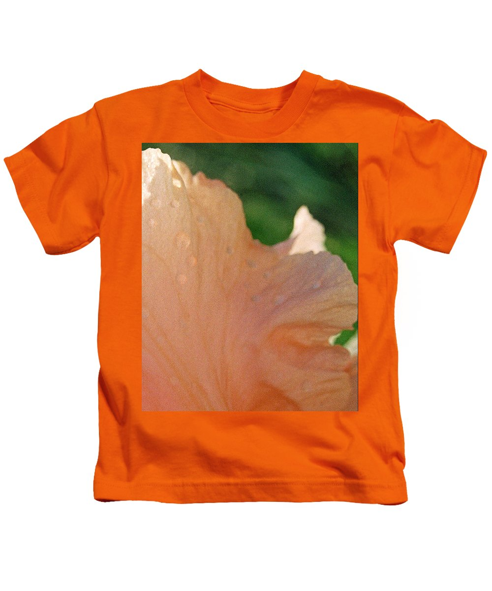 Abstract Kids T-Shirt featuring the photograph Panel Three From Iris by Steve Karol