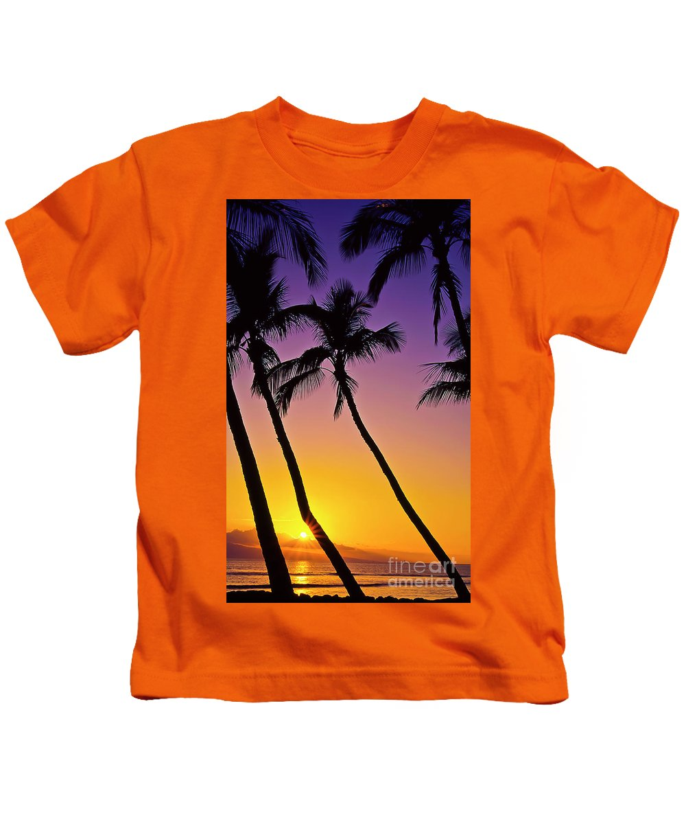 Sunset Kids T-Shirt featuring the photograph Paradise by Jim Cazel