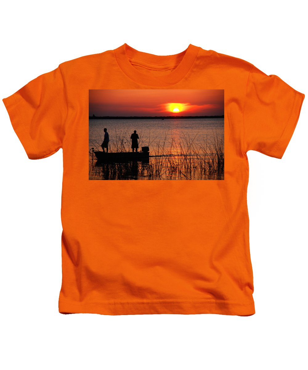 Landscape Kids T-Shirt featuring the photograph Peace Over The Water by Susanne Van Hulst