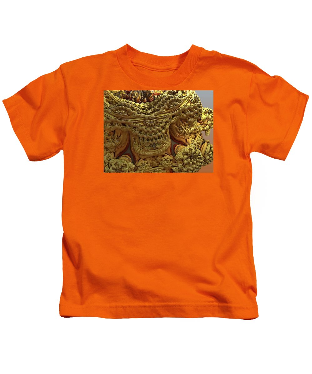 Abstract Art Kids T-Shirt featuring the digital art Peruvian Weave by John Welles