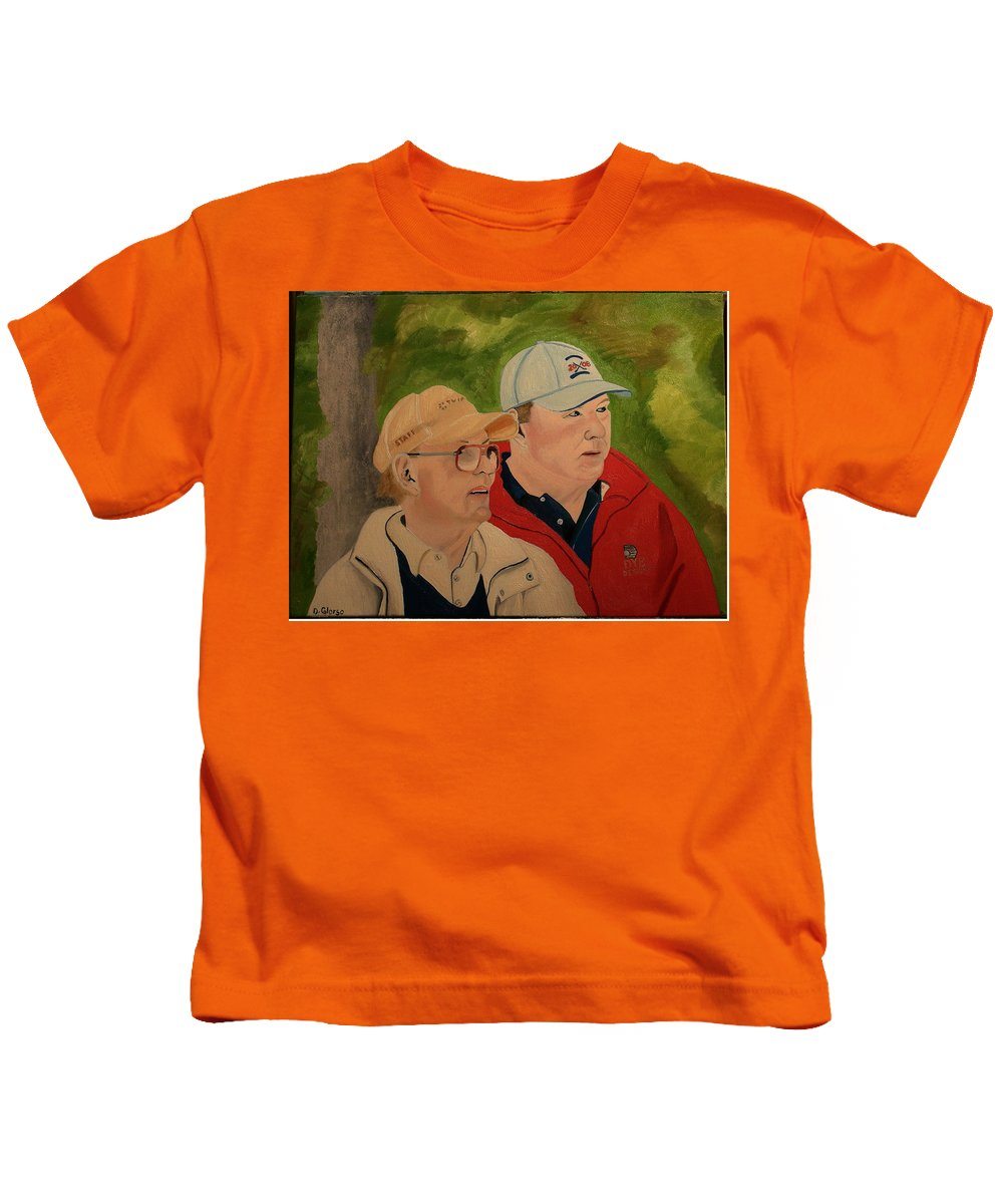 Glorso Kids T-Shirt featuring the painting Pete And Perry Dye by Dean Glorso