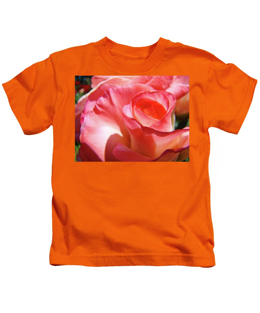 Rose Kids T-Shirt featuring the photograph Pink Rose Art Prints Floral Summer Rose Flower Baslee Troutman by Baslee Troutman