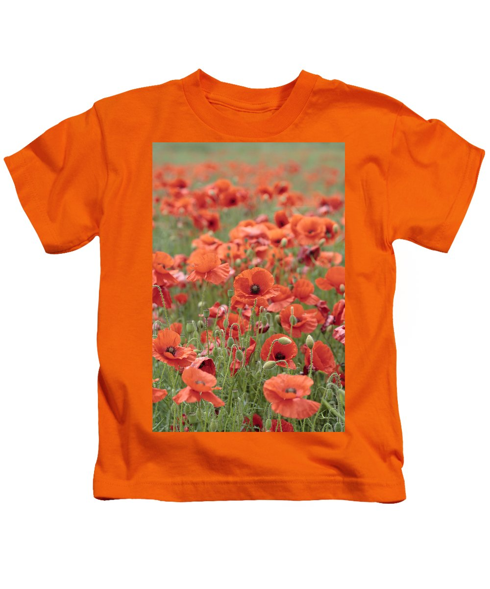 Poppy Kids T-Shirt featuring the photograph Poppies by Phil Crean