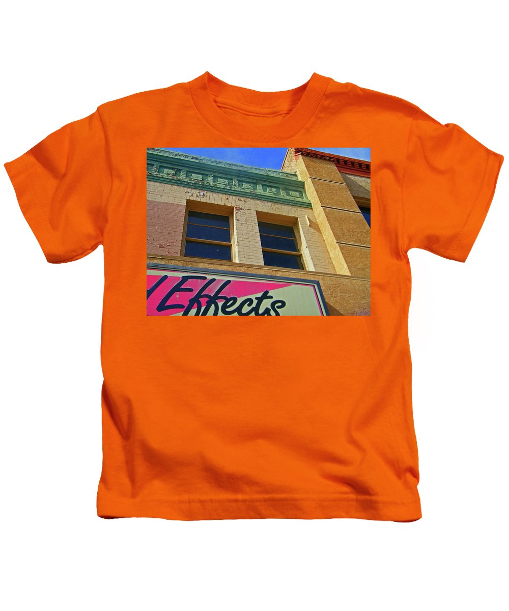 Abstract Kids T-Shirt featuring the photograph Pueblo Downtown-screened Effects by Lenore Senior