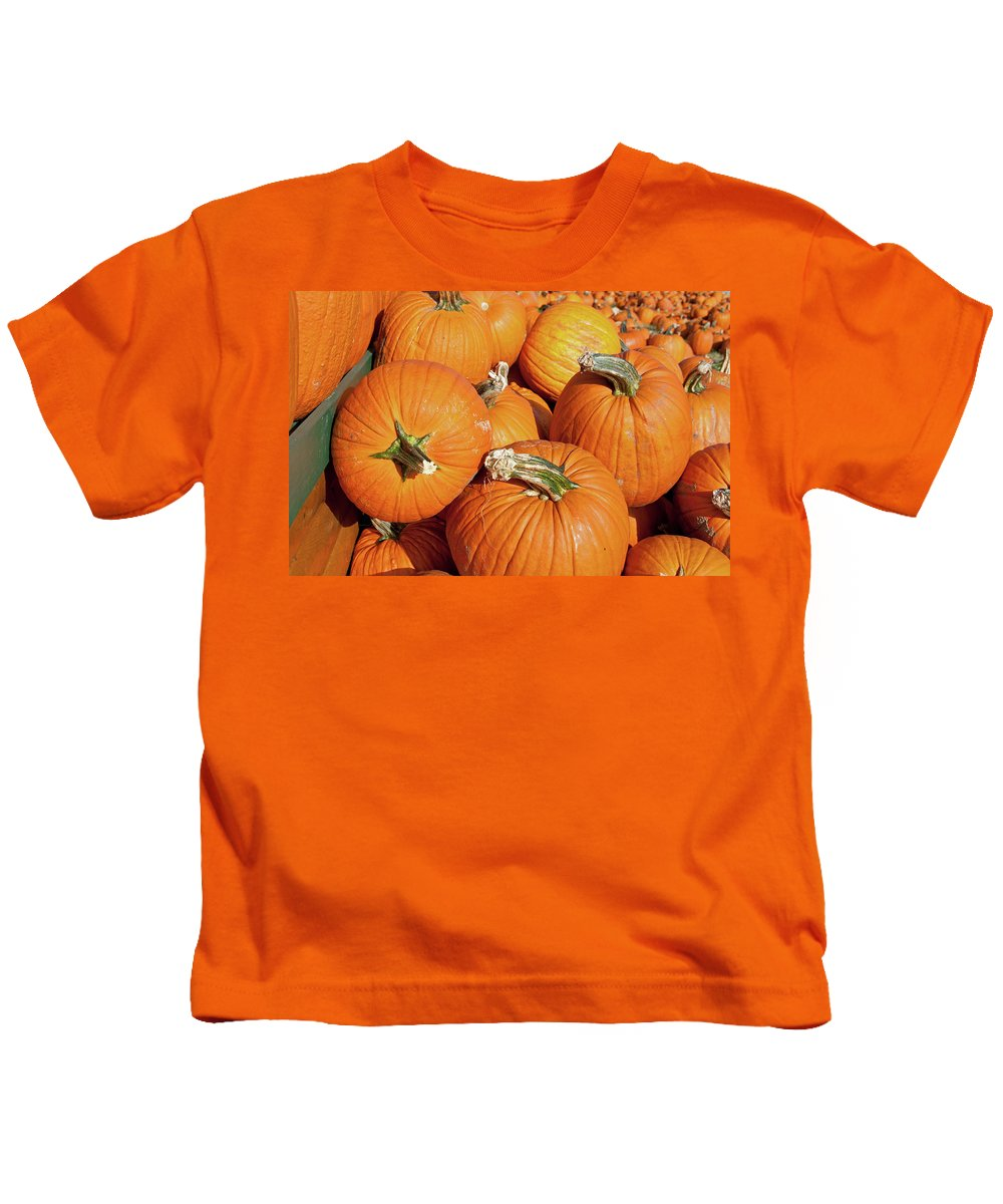 Fall Kids T-Shirt featuring the photograph Pumkins Everywhere by David Arment