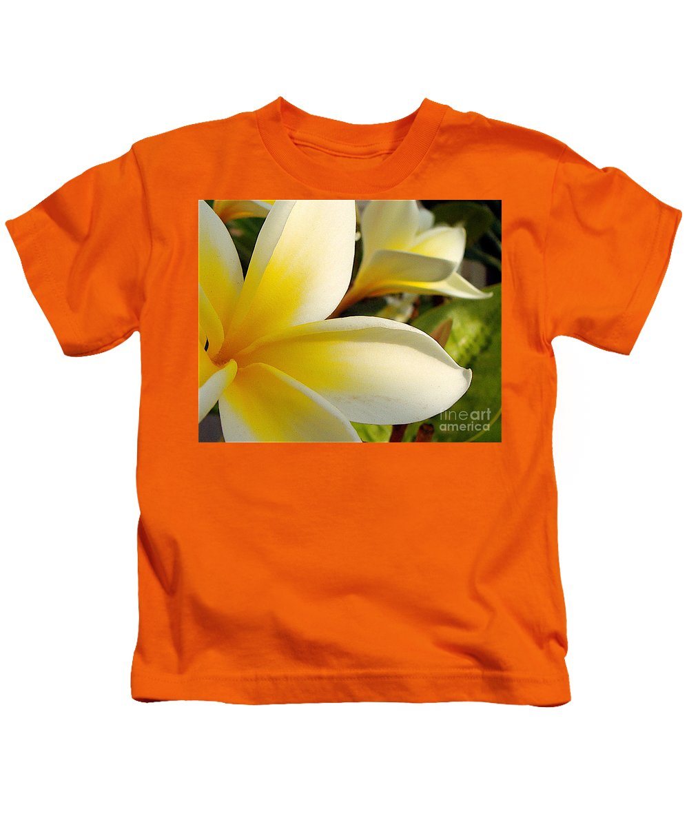 Flowers Kids T-Shirt featuring the photograph Pure Beauty Plumeria Flowers by Jerome Stumphauzer