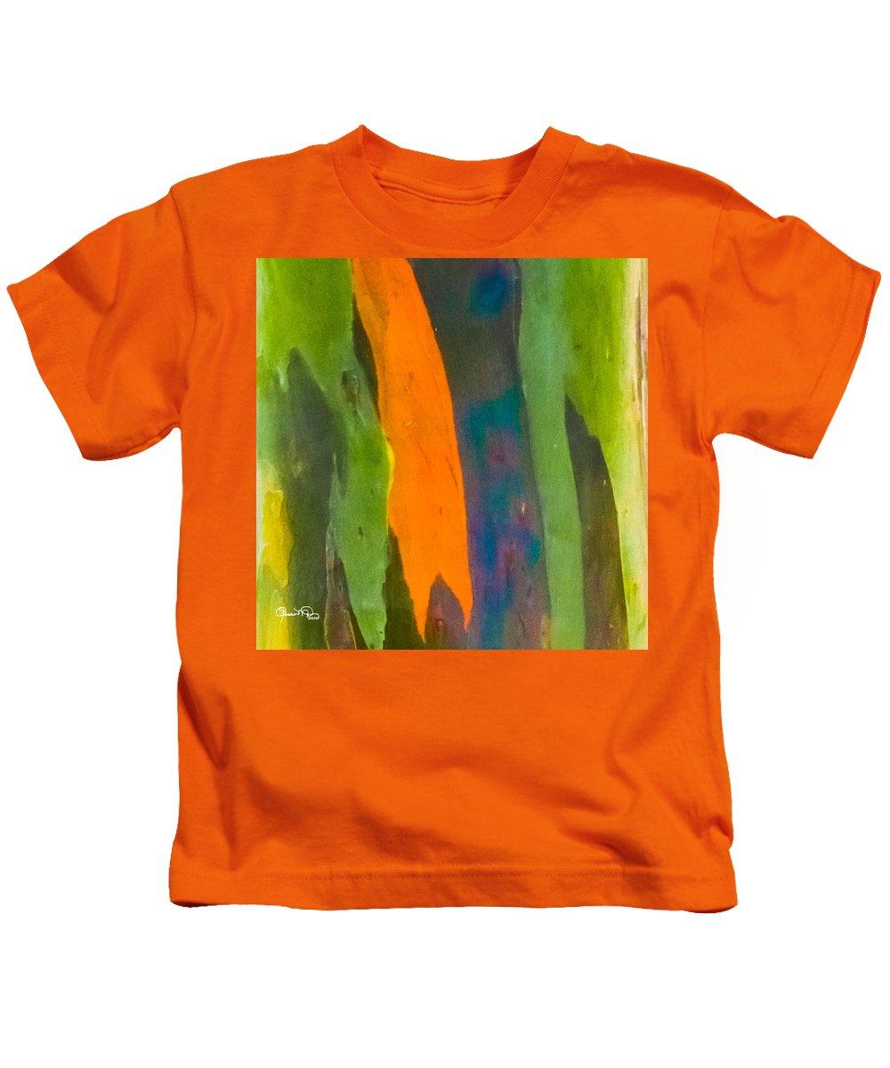 susan Molnar Kids T-Shirt featuring the photograph Rainbow Eucalyptus 5 by Susan Molnar