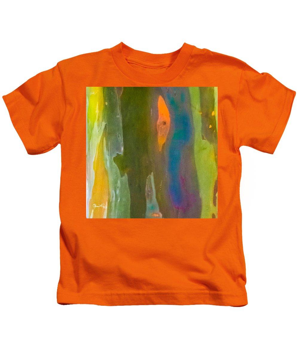 susan Molnar Kids T-Shirt featuring the photograph Rainbow Eucalyptus 9 by Susan Molnar